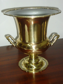 Balde De Gelo De Bronze Modelo Taça Antigo