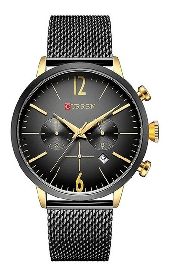 Reloj Analogo Curren Viu Casual Moderno Cronografo