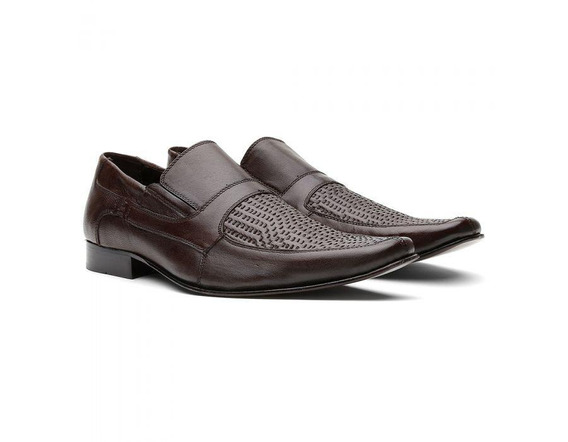 Sapato Social Masculino Couro Trissê 460417 - Frete Grátis