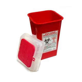 Descartador Agujas Y Cortopunzantes Rojo 2 Litros