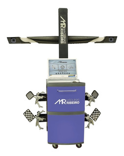 Alinhador De Direção 3d Com Gabinete Azul E Kit Informática