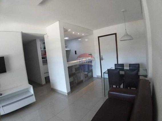 Vendo Apartamento 2 Quartos, 1 Suite, Todo No Porcelanato Em Boa Viagem. - Ap1243