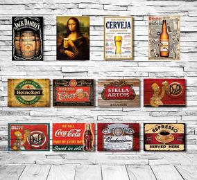Placas Decorativas Frases Bebidas Retro Vintage Mdf Laser