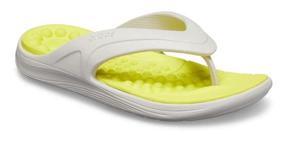 Crocs Reviva Flip - Cinza Claro