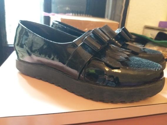 Zapatos Paruolo Plataforma Charol