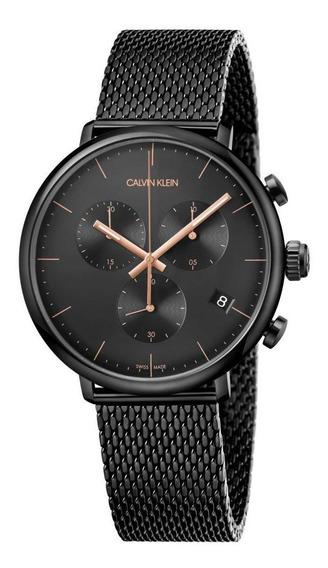Relógio Masculino Calvin Klein High Noon Aço Preto K8m27421