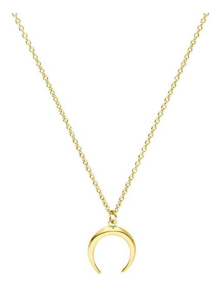Eskaparate Collar De Luna Hecho En Plata .925 Chapado En Oro De 18k