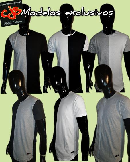 Pack 10 Remeras Dos Colores Algodon Para Hombre. Combinadas