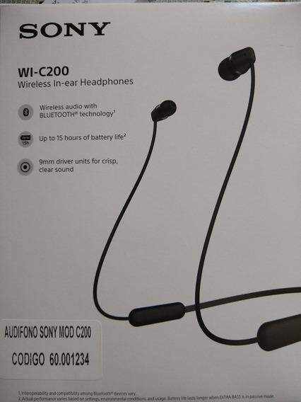 Audífonos Inalámbrico Sony Wi-c200 Originales