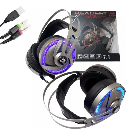Headset Gamer 7.1 Knup Kp-400 P2 Usb Led Ps4 Xone