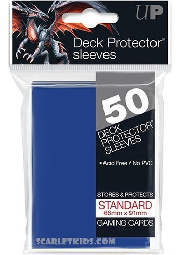 Imagen 1 de 6 de Protectores Ultra Pro X50 Unidades Azul Standart Scarletkids