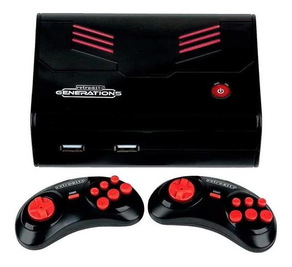 Console Retro-Bit Generations preto/vermelho