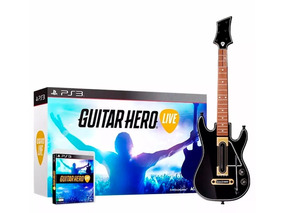 Guitarra Guitar Hero Live Rock Band Original Ps3 + Jogo