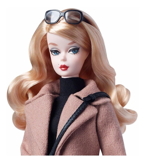 Barbie Collector Classic Camel Coat Casaco Marrom Dgw54-nrfb