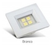 Kit C/10 Spot Branco Retangular P/moveis 4 Leds Br Quente