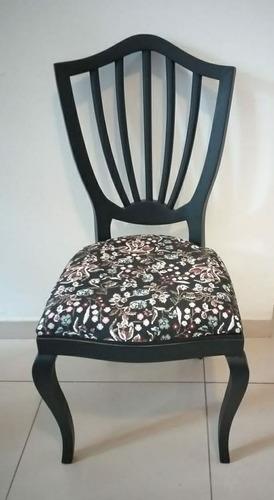 Cadeira Leque Madeira Maciça Com Estofamento No Assento