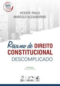 Resumo De Direito Constitucional Descomplicado 9ª Edição