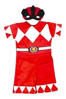 Fantasia Infantil Power Ranger Vermelho - Festa, Criança