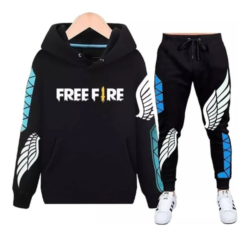 Conjunto Blusa + Calça Moletom Free Fire Angelical Slim Top