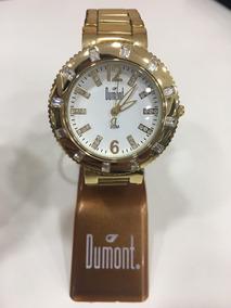 Relógio De Pulso Dumont Feminino Kit 3 Em 1 Troca Pulseira