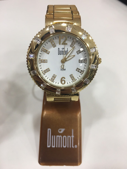 Relógio De Pulso Dumont Sk80513e Troca Pulseira Feminino