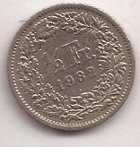 Suiza Moneda De 1/2 Franco Año 1982 !!