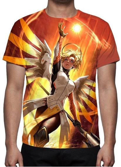 Camisa, Camiseta Overwatch - Mercy - Promoção