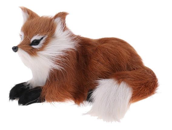 Bonitinho Simulação Pelúcia Raposa Animais Recheado Brinq