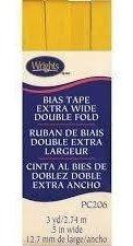 Cinta Al Bies De Doblez Doble Extra Ancha De 1,2cm Amarillo