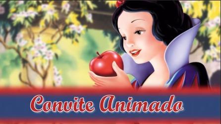 Projeto Proshow Branca De Neve Convite Animado
