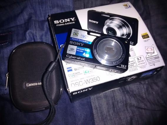 Câmera Digital Sony Dsc-w350/b Preta14,1 Mp Com Cartão 4gb.