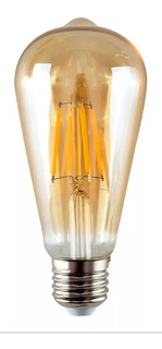 Lámpara Foco Filamento Led 7w Pera Vintage St64 E27 Cálida Deco Estilo Retro Rosca Común Edison Sieteiluminacion