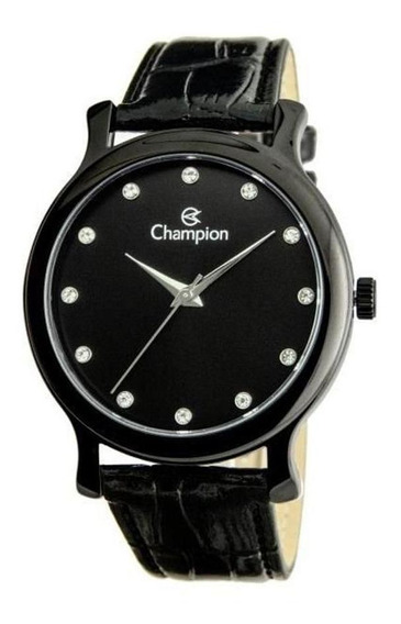 Relógio Champion Feminino Pulseira De Couro Ch22733n