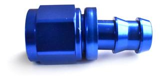 Acople Conexión Push On Hose Recto An8 Azul Ftx Fueltech