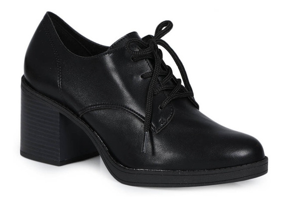 Sapato Feminino Oxford Salto Conforto Beira Rio