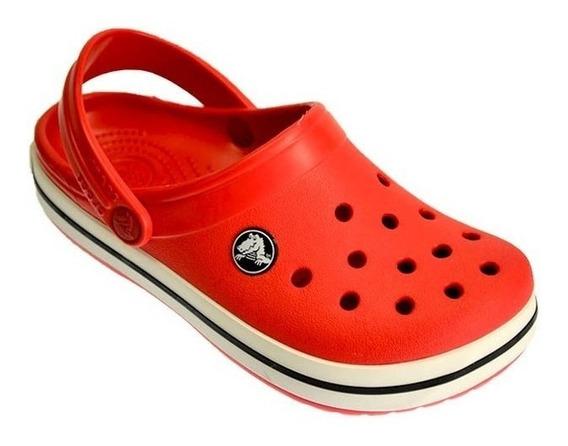 Sandalias Zuecos Crocs Crocband Jr Niños Red Unisex