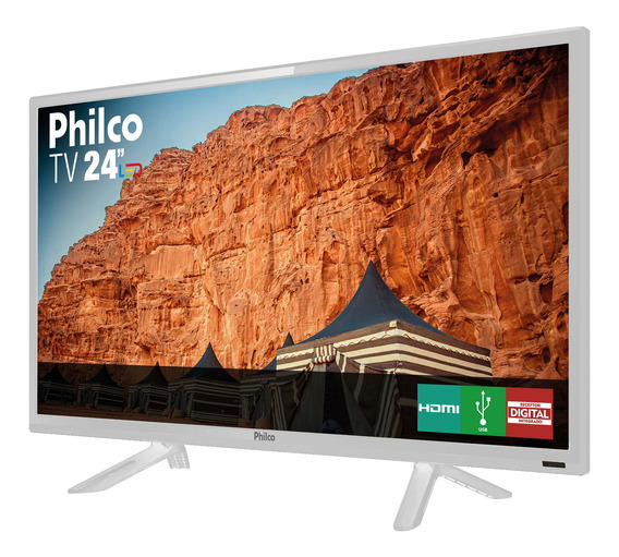 Tv Philco Led 24 Ptv24c10db Cinza