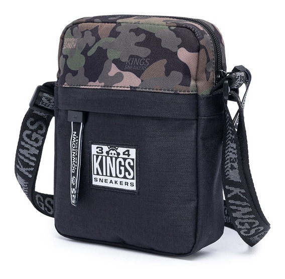 Shoulder Bag Bolsa Transversal Kings Original Camuflado