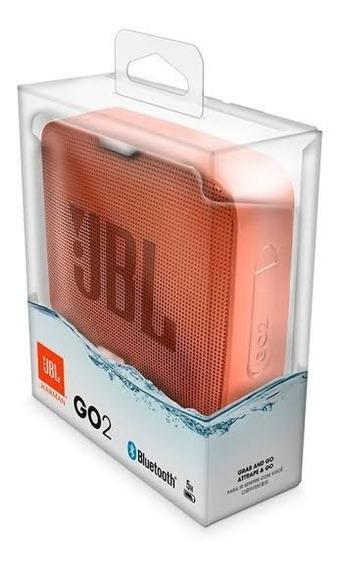 Caixa De Som Rosa Portátil Jbl Go2 Bluetooth Prova D