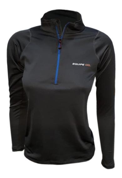 Remera Termica Dama Cuello Alto Invierno Mujer Primera Piel Sky Deporte Trekking Running Gym