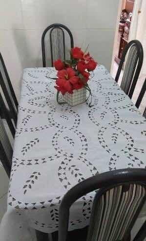 Toalhas De Mesa Para 6 Cadeiras Toda No Bordado Caseado