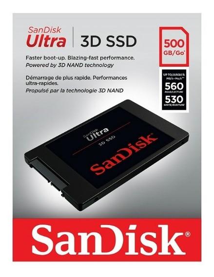 Sandisk Ultra 3d Ssd 500gb Sata Iii Envio Imediato Promoçao!
