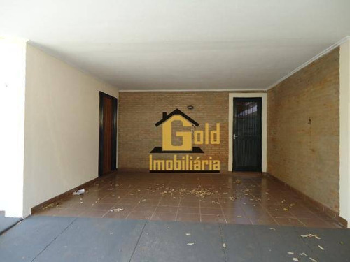 Casa Ampla Com 3 Dormitórios, 1 Suite No Bairro Jardim Palma Travassos - Ribeirão Preto - S.p. - Ca0876