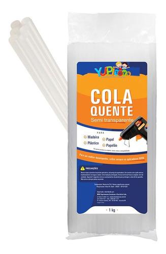 Imagem 1 de 4 de 70 Refil Bastão Cola Quente 7mm Transparente Pistola 1kg
