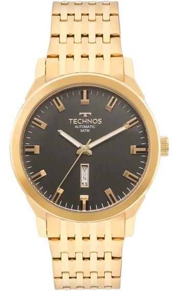 Relógio Technos Masculino Classic Automatico Dourado 8205o