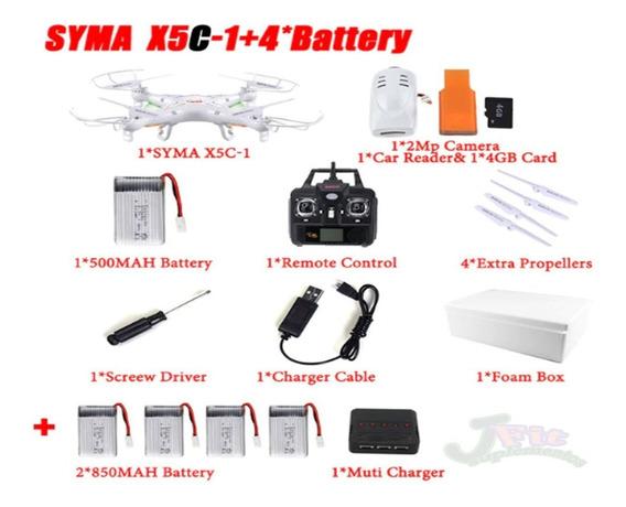 Drone Syma X5c C/ Camera 5 Baterias Kit Completo Original