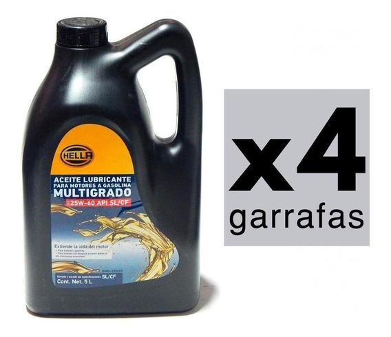 20 Litros Aceite Motor 25w60 Mineral Multigrado Api Cf Hella