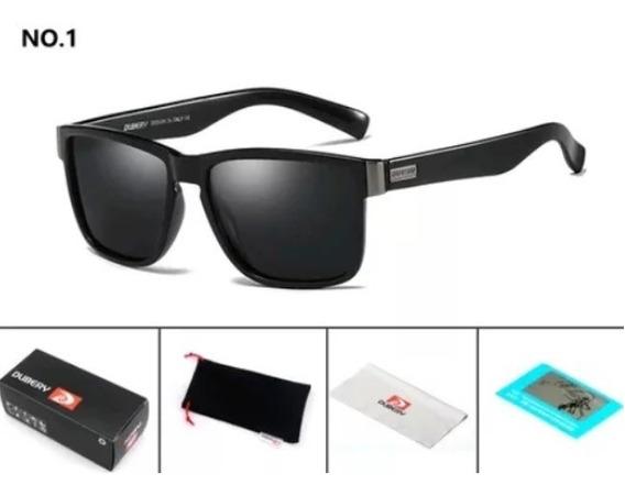 Dubery Óculos De Sol 100% Original Polarizado Uv400 Black