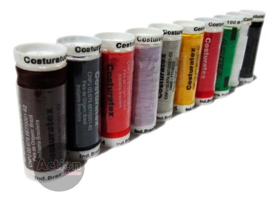 Linha Para Costura Colorido - Kit 10 Unidades