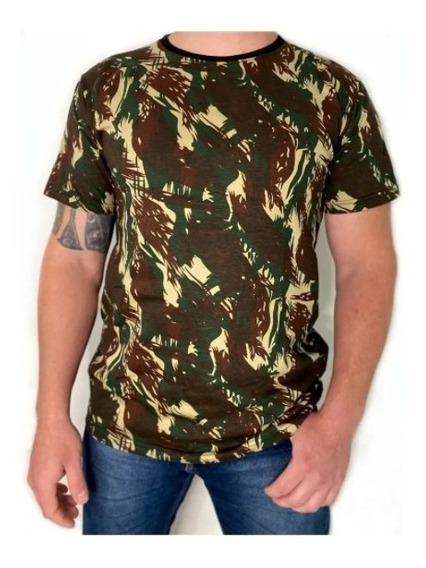 Camiseta Masculina Camuflada Militar Pesca Airsoft T-shirt
